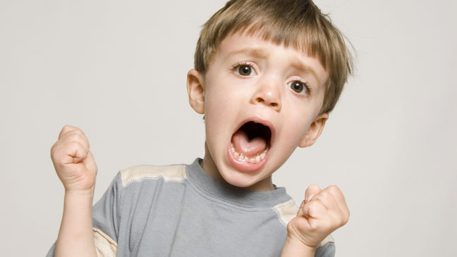 Screaming child
