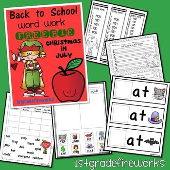 Back to School FREEBIE!Word Work Preview.