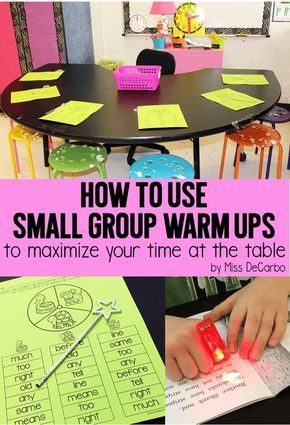 How to Use Small Group WarmUPs with MissDeCarbo.com